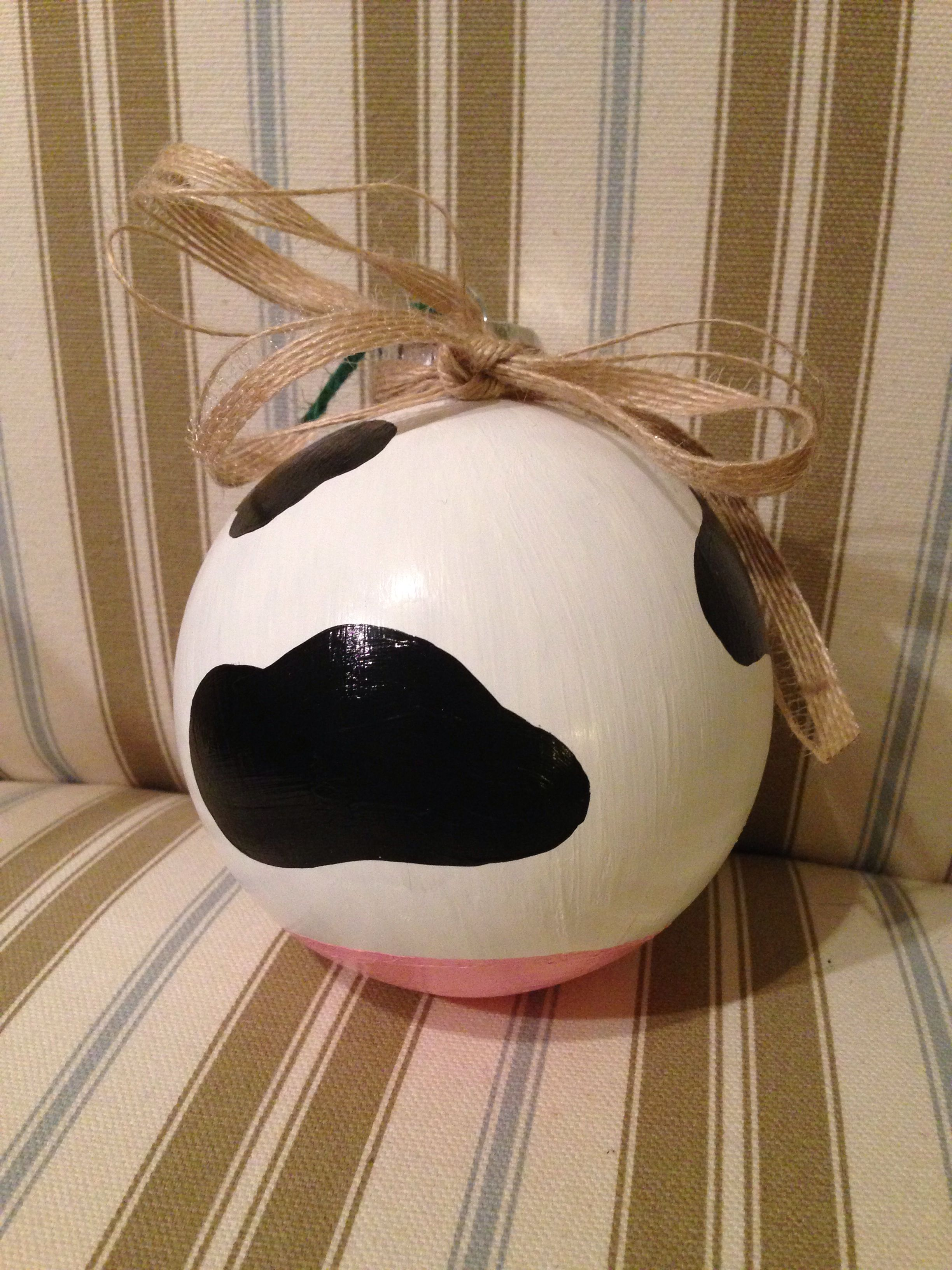 Pin By Sarah Elizabeth Leck On Make Country Christmas Ornaments Cow Ornaments Cow Craft