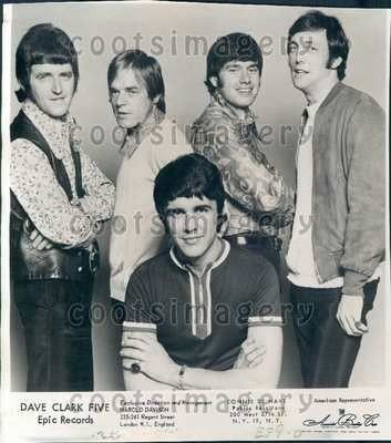 1967 1960s British Invasion Rock Band Dave Clark Five Wire Photo (03 ...