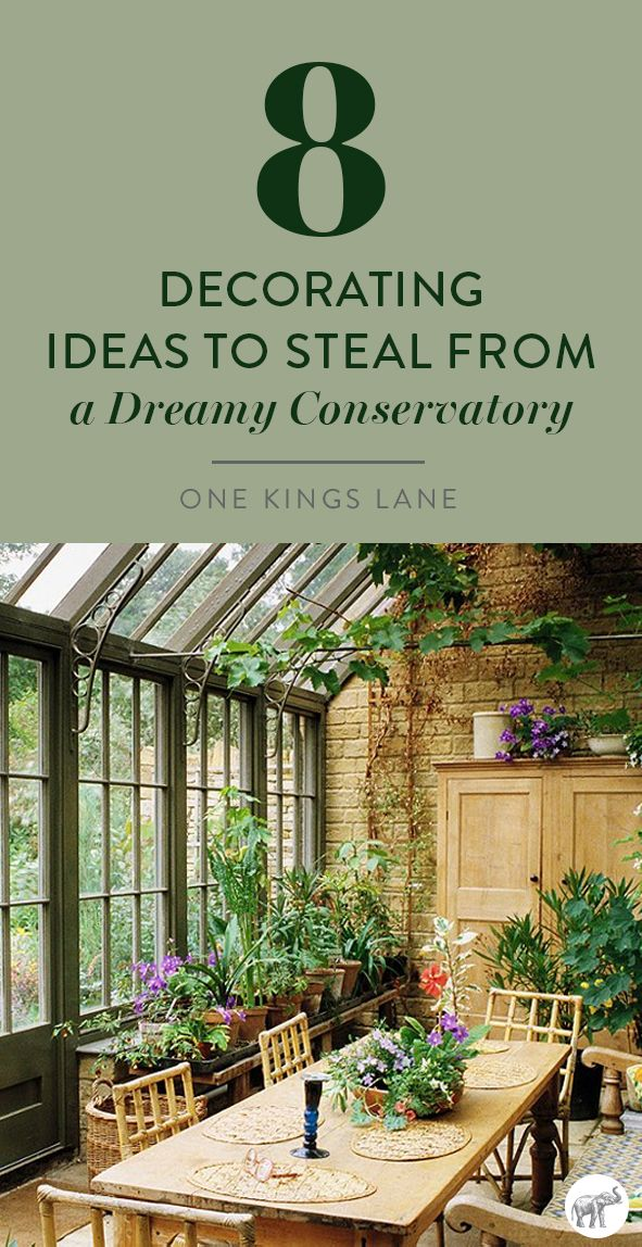 Steal 8 Genius Decorating Ideas For Creating The Conservatory Inspired Sunroom Of Your Dreams And Shop Everything With Images Garden Room Conservatory Conservatory Garden