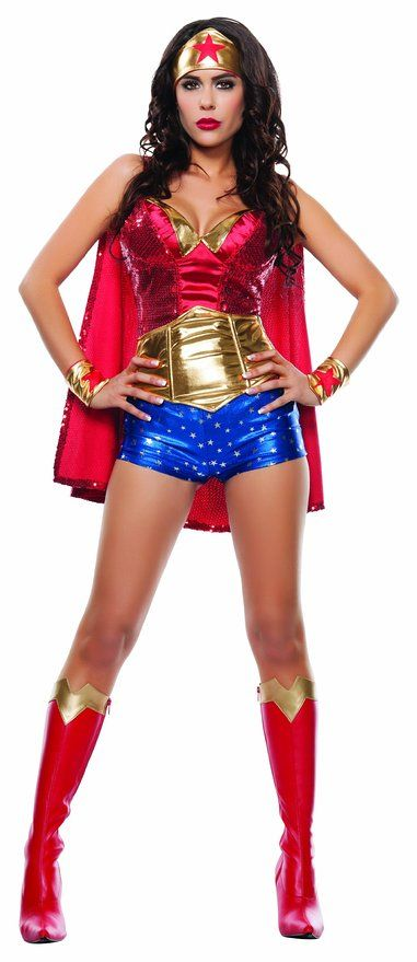 Make Your Own Wonder Woman Costume - DIY Halloween Costume Ideas - Homemade How To  sc 1 st  Pinterest & Make Your Own Wonder Woman Costume - DIY Halloween Costume Ideas ...