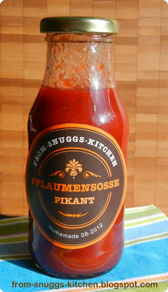 spicy plum sauce / pikante pflaumensosse