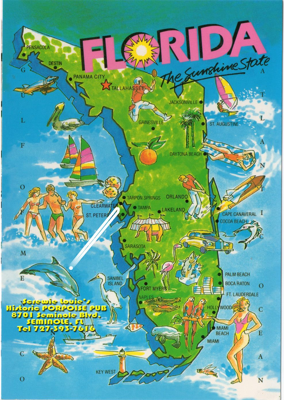 One Day I WILL Live In Floridaor Somewhere Without SNOW - Map of us vacation spots