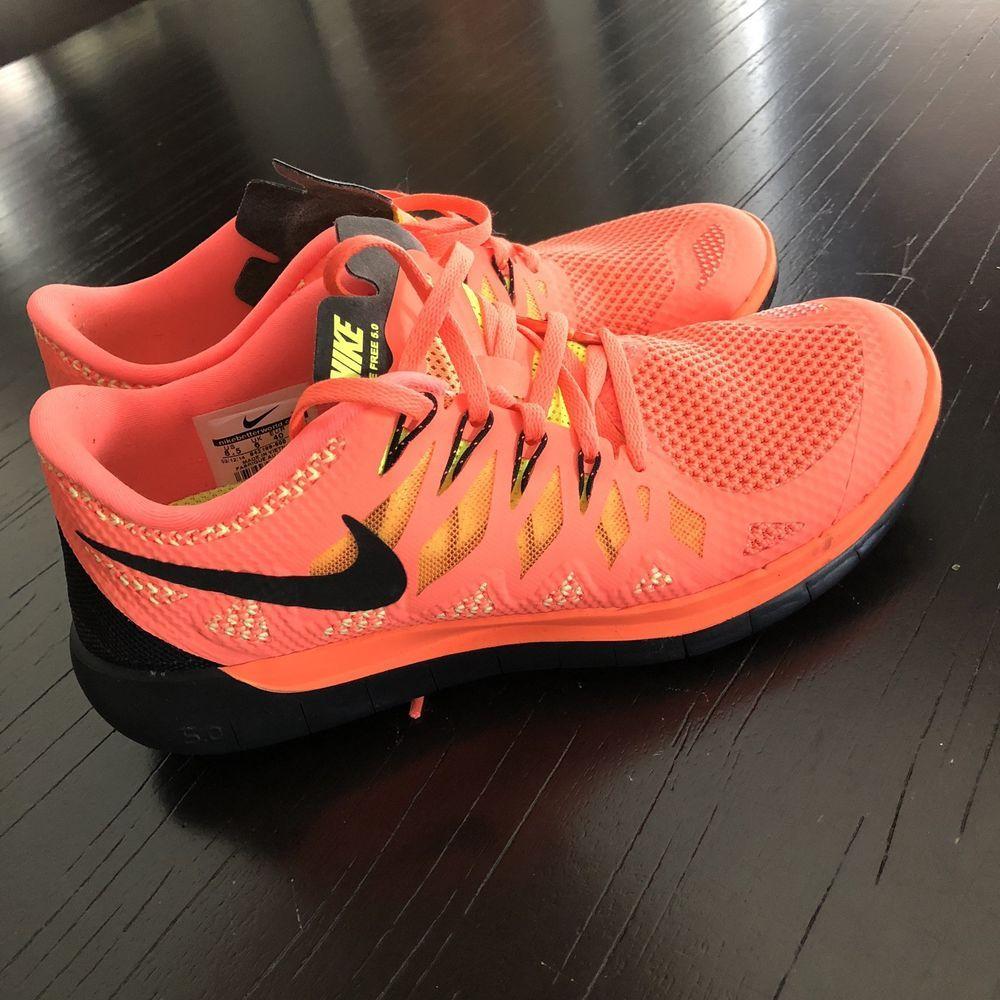 Nike Free 5.0 Running Shoes Womens Size 8.5 Bright Mango