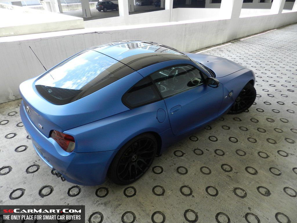 Matte Frozen Blue Bmw Z4m Coupe Bmw Coupe Bmw Bmw Z4