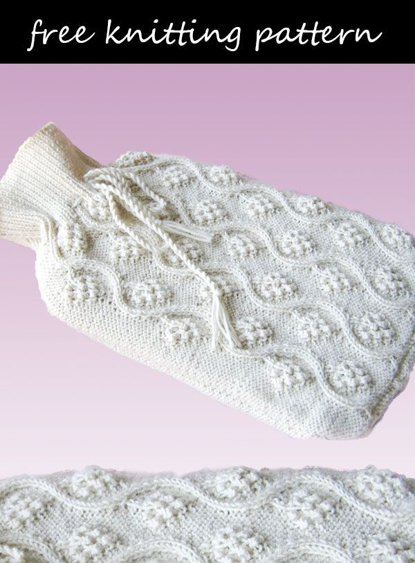 Free Knitting Pattern To Create Your Own Hot Water Bottle Cover