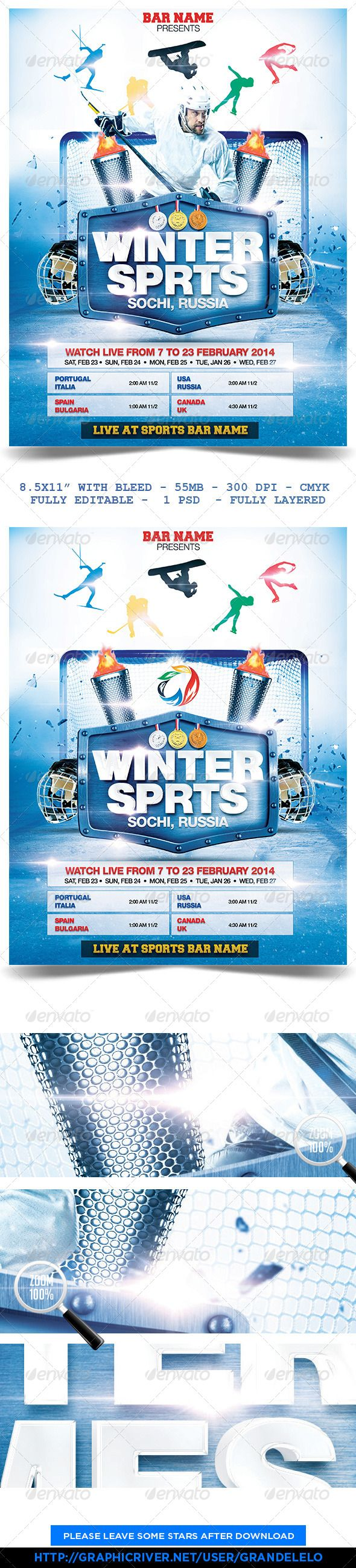 Winter Sports Poster Template  Winter Sports Template And Winter