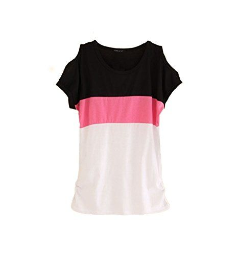 Memorose Women Off Shoulder Short Sleeve Splice Stripe Lo... https://www.amazon.com/dp/B01FXCWAR0/ref=cm_sw_r_pi_dp_x_bl3Tyb59QWB56: