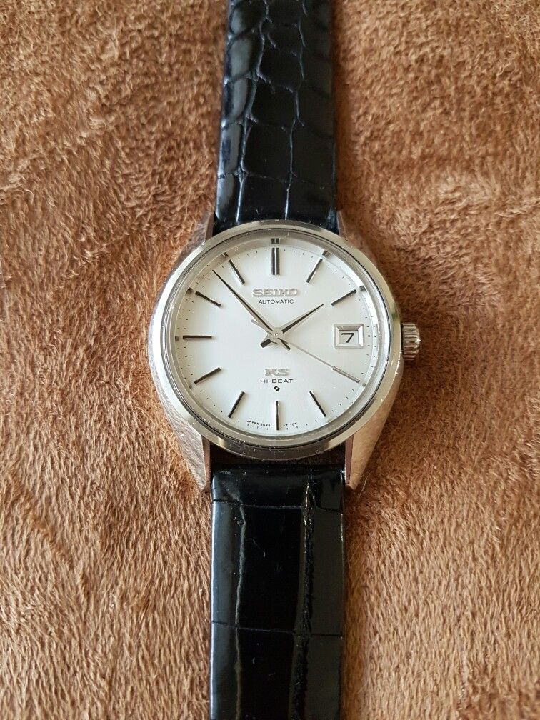 bda41cf33 King Seiko 5625-7110. My all time favourite KS model, sharp thin lugs with  gold medallion caseback now my new dress watch. An absolute keeper!