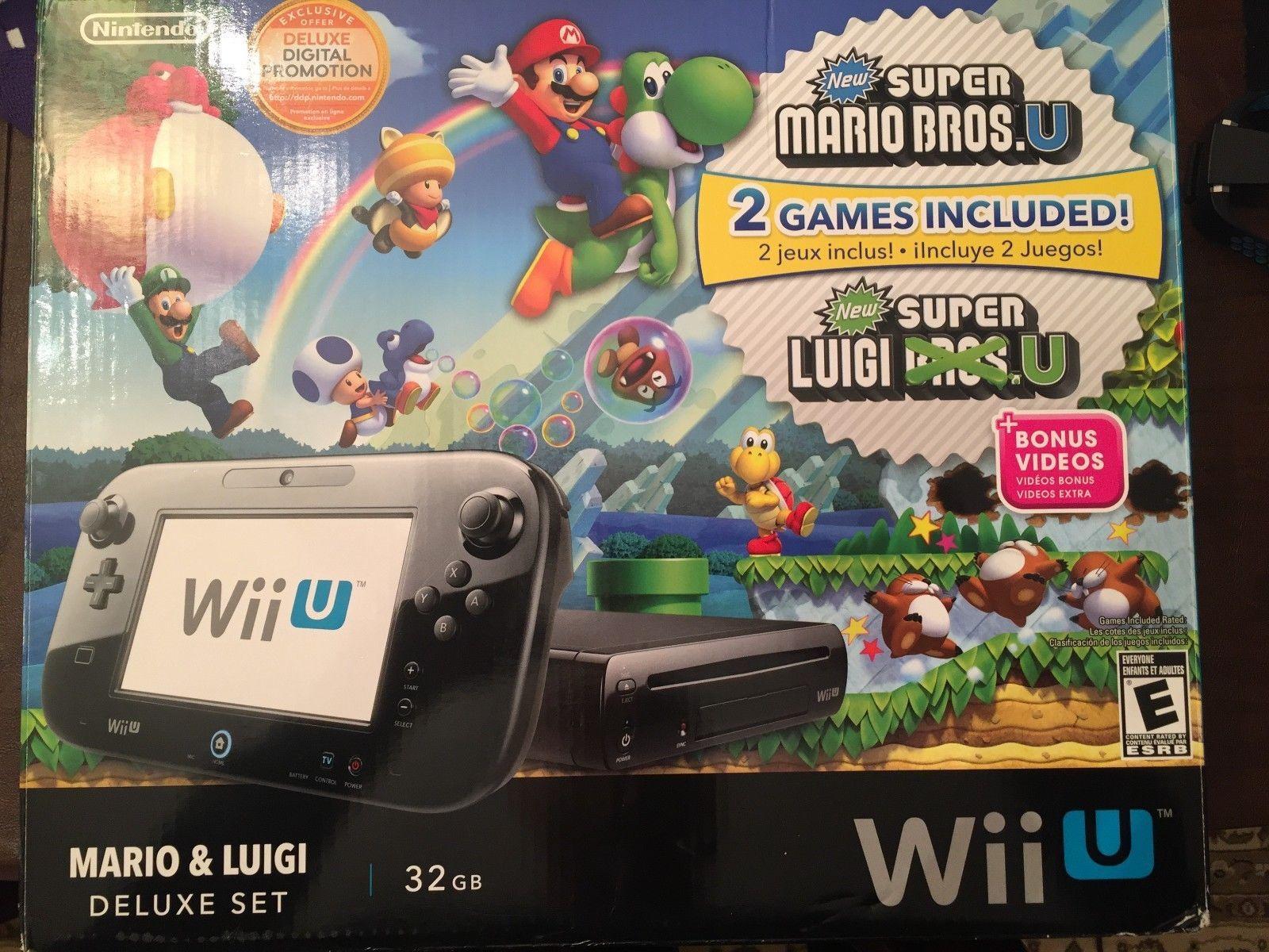 Nintendo Wii U Mario Luigi Deluxe Set 32gb Black Handheld System