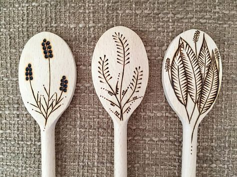 Wood Burned Sassy Cooking Spoon With Food Puns: Set of 3 | Etsy