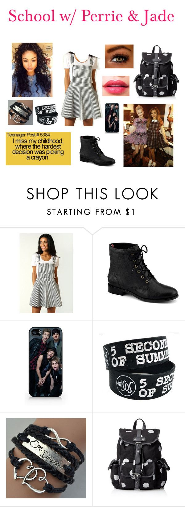 """School w/ Perrie & Jade"" by superkaci-gordon ❤ liked on Polyvore featuring Boohoo, Sperry and Wild Pair"