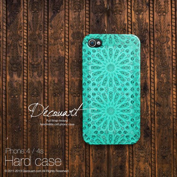 iPhone 5 case, iPhone 5 cover, case for iPhone 5, mint tiffany emerald teal turquoise floral pattern S512 on Etsy, £15.88