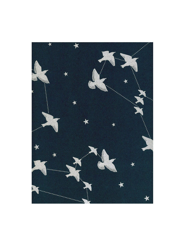 Mini Moderns StarLing Wallpaper, Midnight & Silver