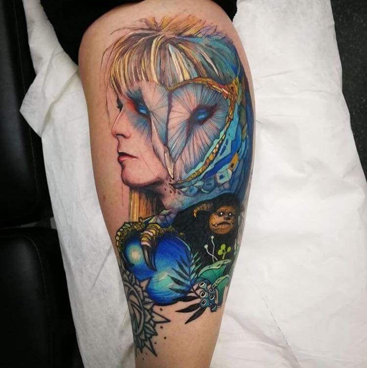Labyrinth Tattoos: Wow! What A Beautiful Bowie/Jareth Tattoo!