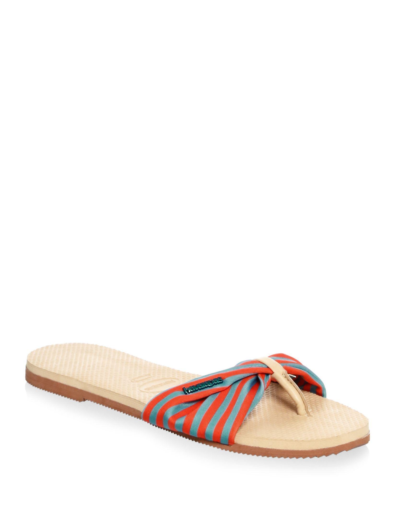 f79ba649d2 Havaianas Floral-Print Cinched Sandals