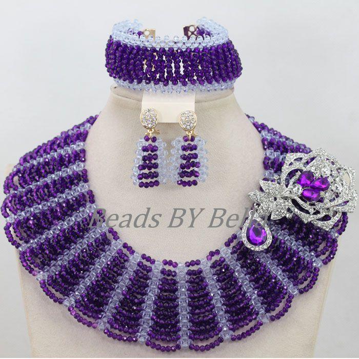 Handmade Fashion Bridal Jewelry Sets Nigerian Wedding African ...