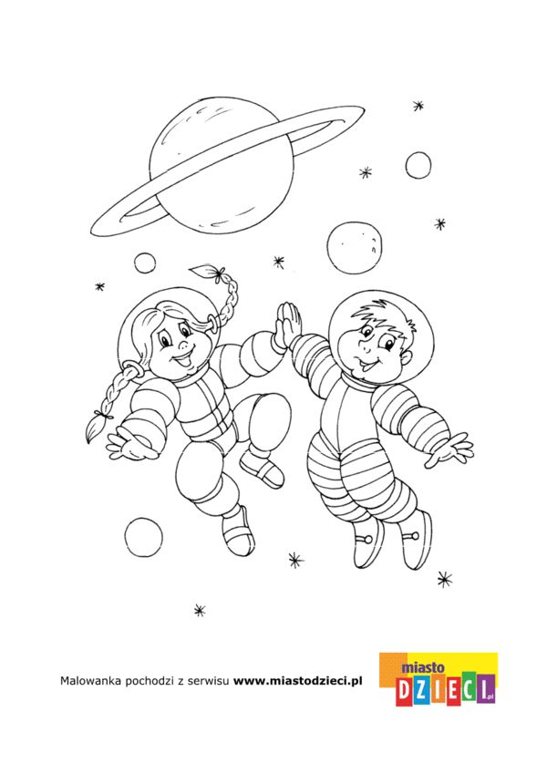 Kosmos Kolorowanki Dla Dzieci Coloring Pages Character