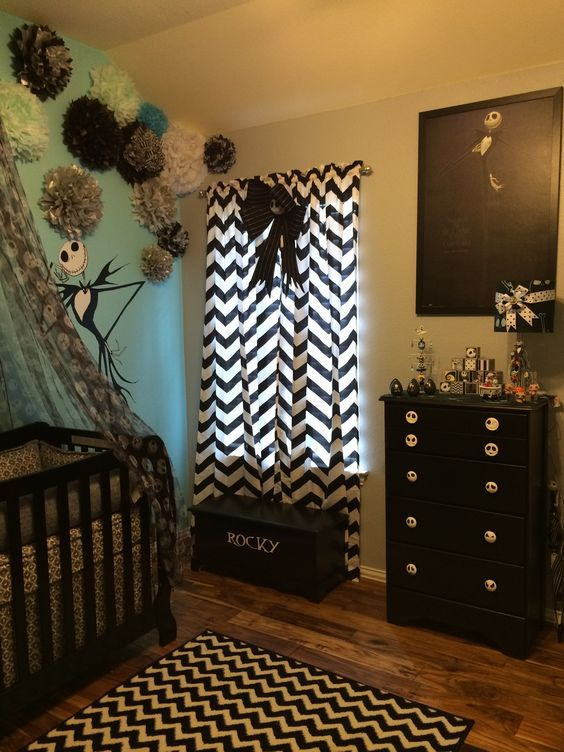 13 nightmare before christmas themed childrens bedrooms - Nightmare Before Christmas Bedroom Decor