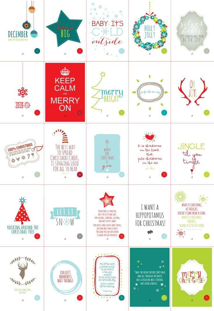 ☃FREE printable Christmas Cheer Advent Calendar / LostBumblebee ...