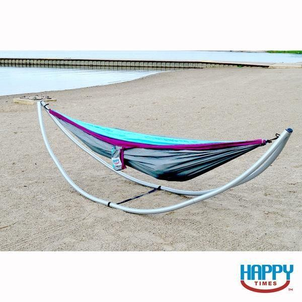 happy times parachute hammock with lightweight portable hammock stand  8 piece collapsible frame into a shoulder bag for travel ease  no tools requ u2026 happy times parachute hammock with lightweight portable hammock      rh   pinterest