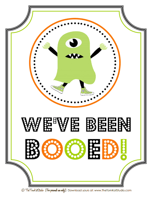 picture regarding You've Been Booed Printable Pdf titled Weve Been Booed! printable PDF towards \