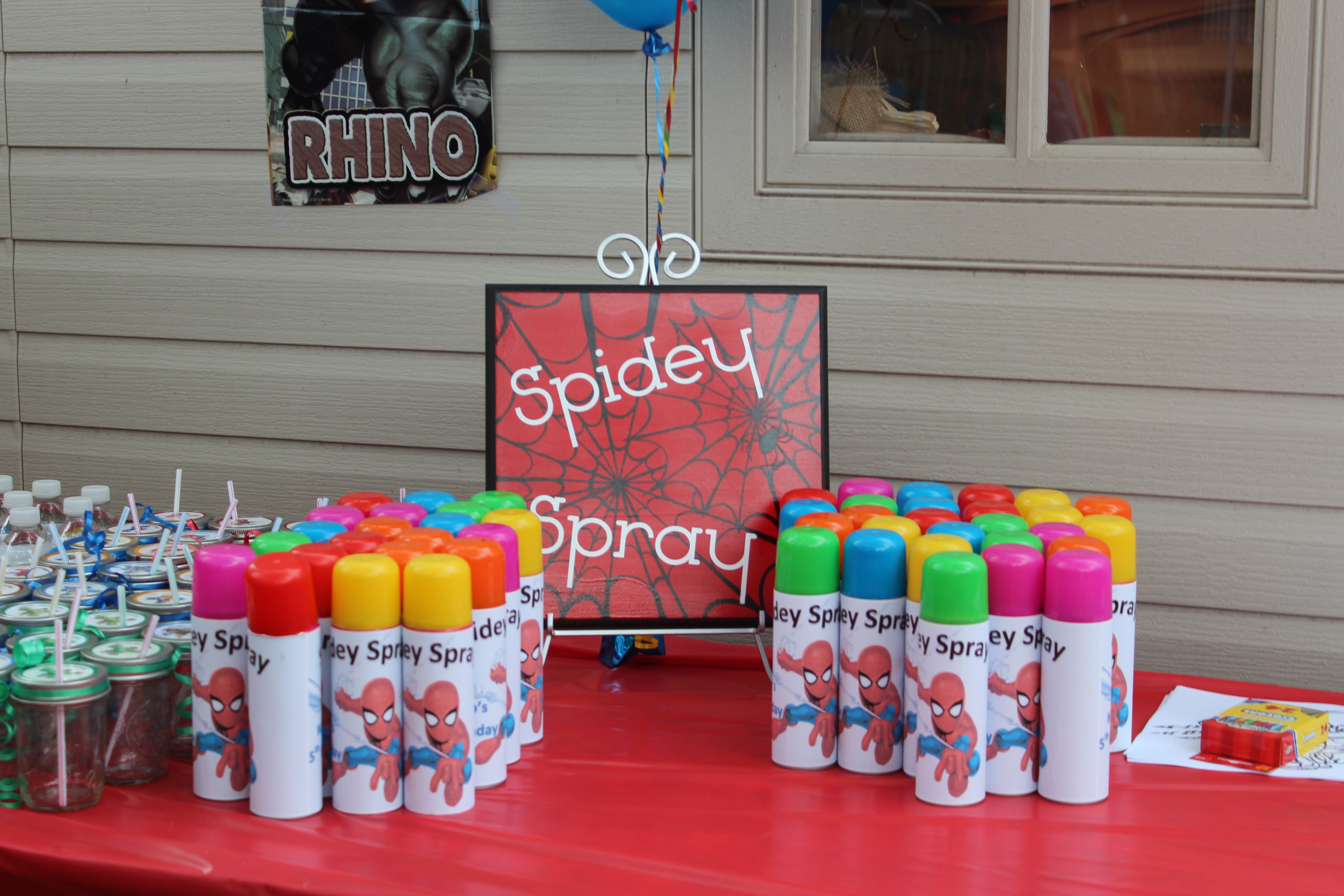 spidey silly string only can be used outside will get stuck in