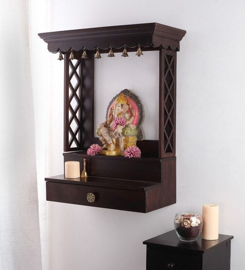 Image Result For Wall Mounted Pooja Mandir Shelves
