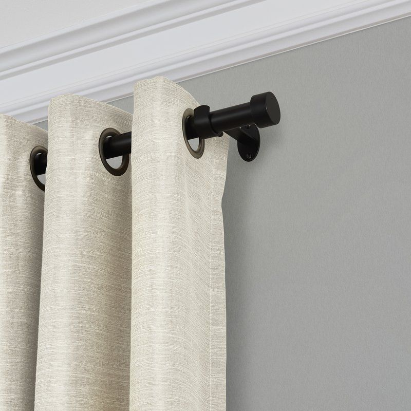 Victorine Curtain Rod Set Window Draperies Single Curtain Rods
