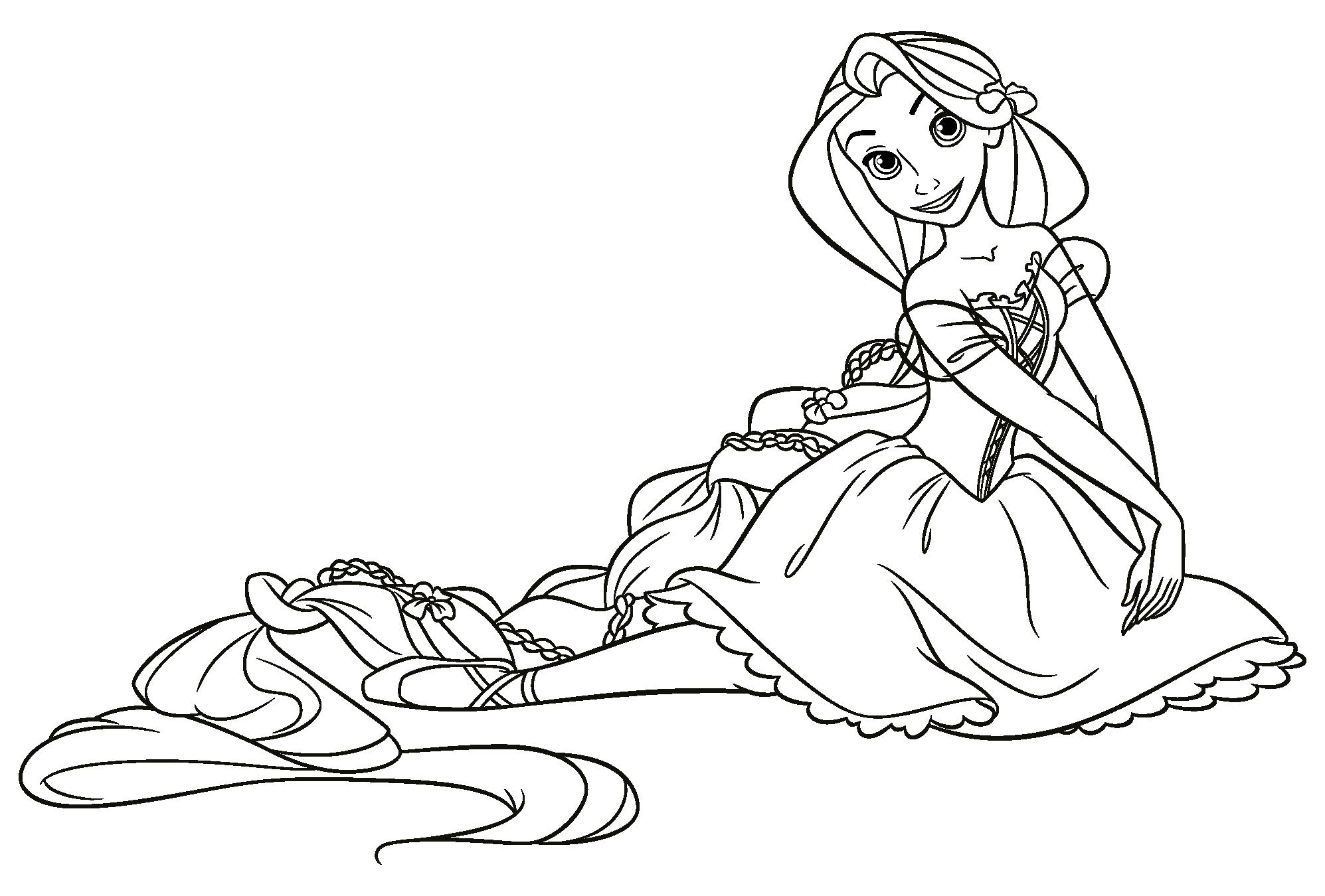 Disegni da colorare disney princess timazighin for Disegni da colorare e stampare di rapunzel