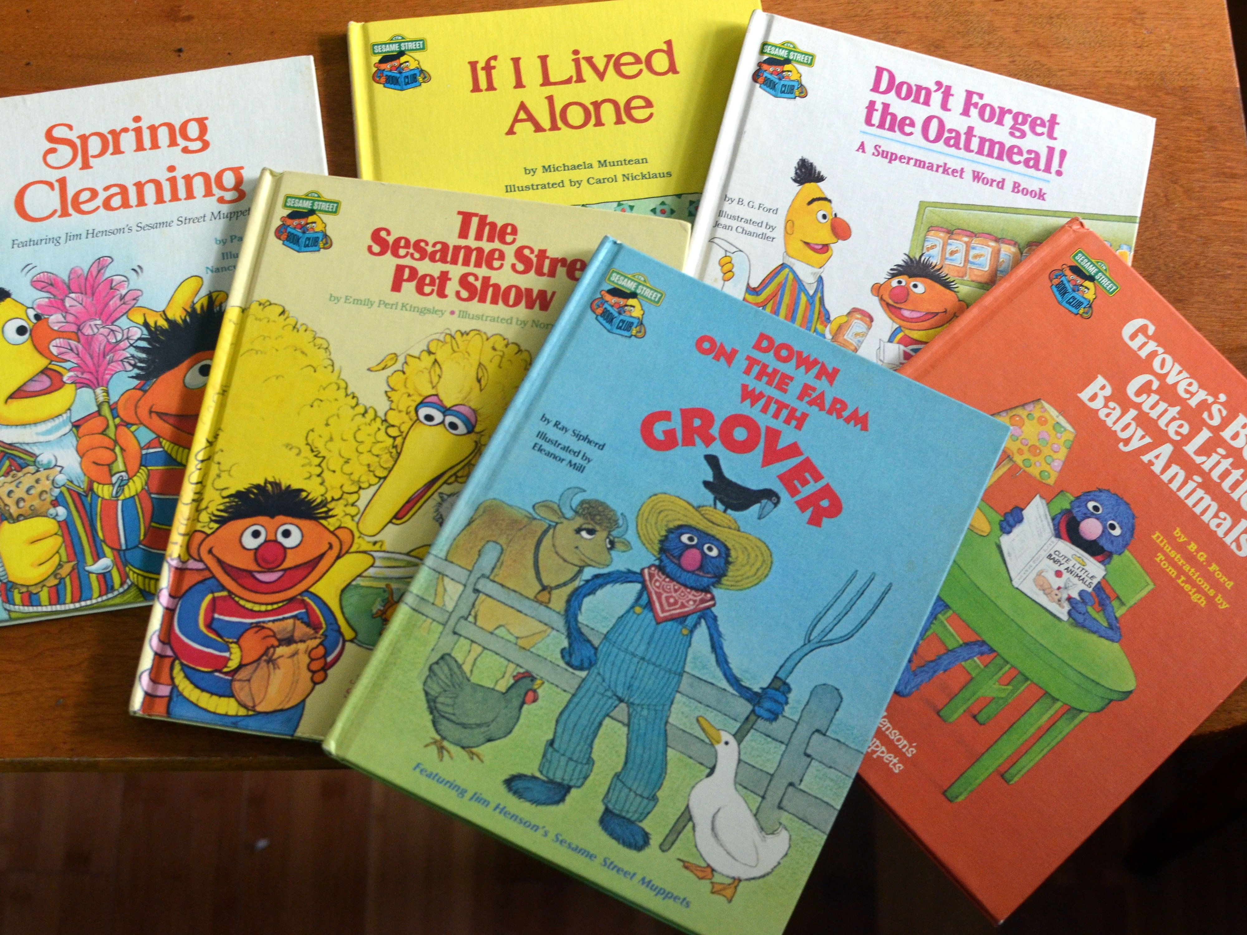 Sesame street books from the 70s and 80s
