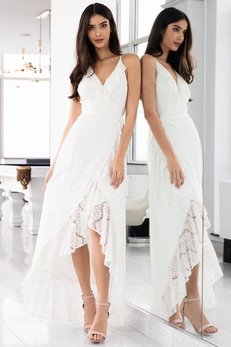 Meadow Lace Maxi Dress White Lace Maxi Dress Wedding Dresses High Low Lace Maxi Dress [ 1125 x 750 Pixel ]
