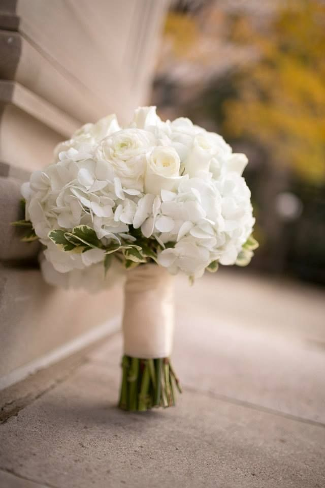 Classic Bridal Bouquet Ivory And White Lace Hydrangeas Roses Traditional Bridal Bouquet