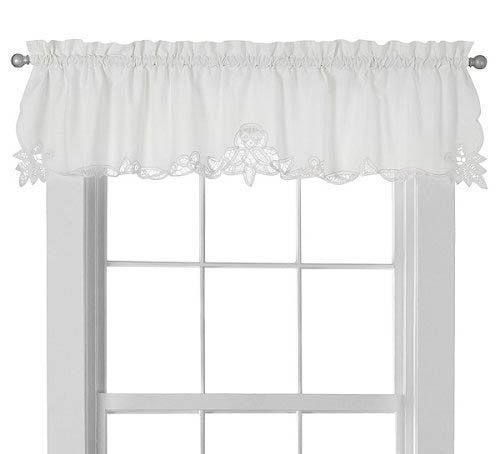 Battenburg Lace Window Valance Country Curtain Battenberg White Curtains