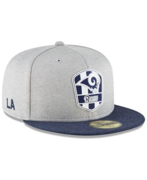 0324e9d4 New Era Los Angeles Rams On Field Sideline Road 59FIFTY Fitted Cap ...