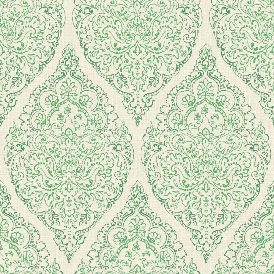 boho chic - bc 81393 tapete vlies neu barock ornamente grün beige ... - Tapete Grau Beige