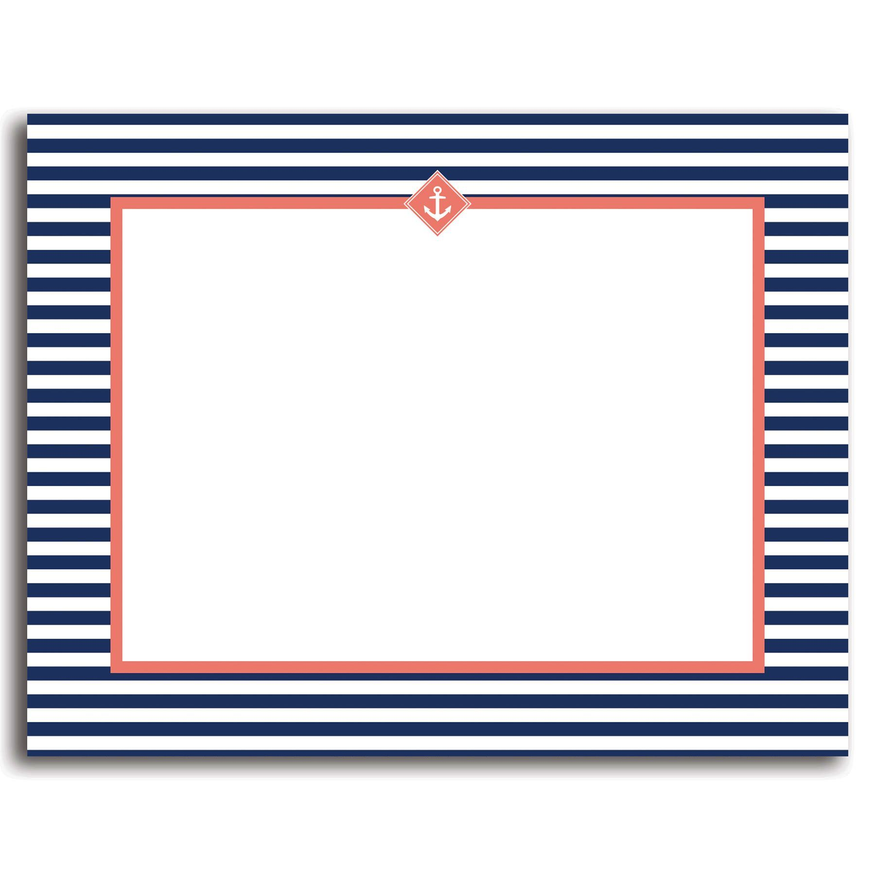 graphic about Printable Blank Note Cards identify 25 Printable Blank Observe Playing cards with Envelopes, Nautical