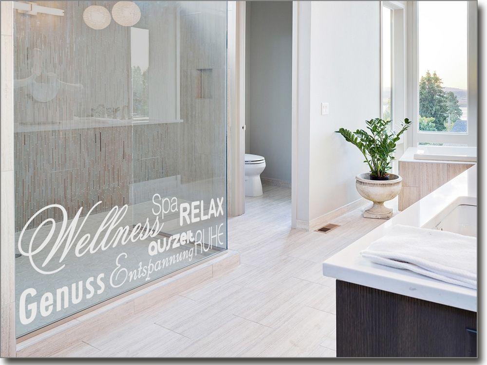 Relax Spa Aufkleber für Glasscheiben Glastattoos Begriffe/Sprüche - folie für badezimmerfenster