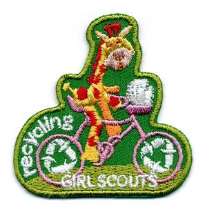 Girl Scout Shop - Recycling Giraffe Sew-On Patch