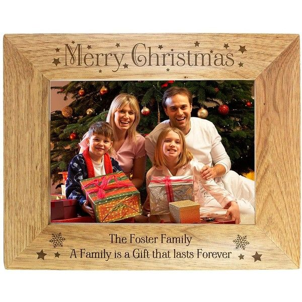 Personalised Christmas Wooden Photo Frame 19 Liked On Polyvore
