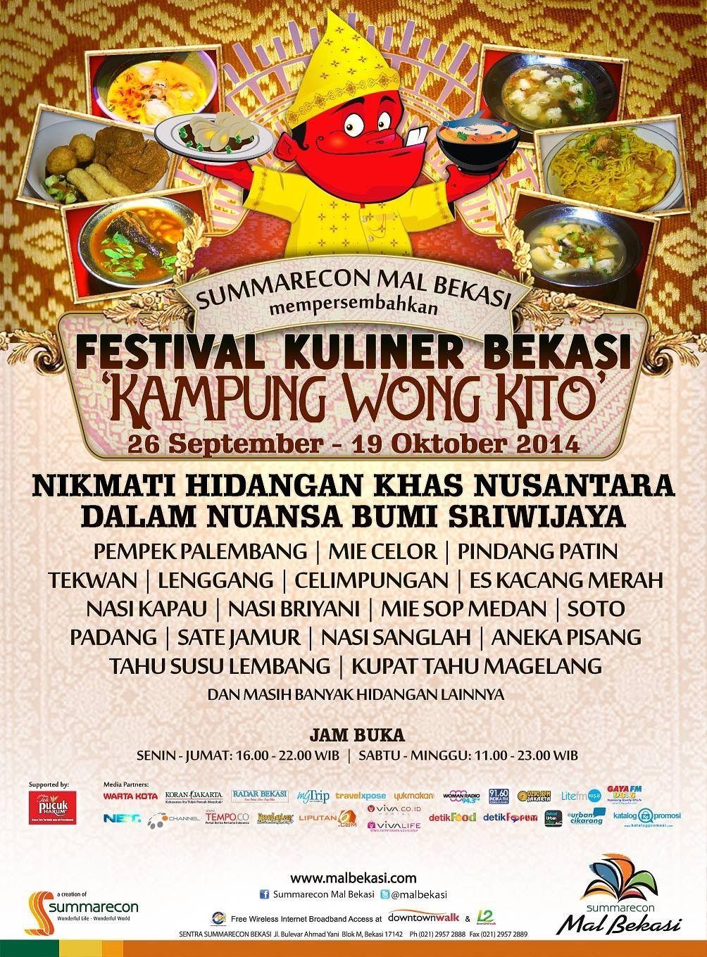 Pin Oleh Summarecon Mal Bekasi Di Event Smb 19 Oktober Festival Tahu