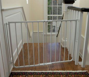 Stairs Baby Gate   Top Of Stairway Adjustable Baby Gate