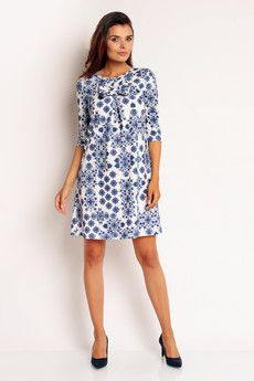 Sukienka Na90 Niebieski Nommo Sukienki Damskie Mustache Pl Fashion Dresses Casual Dress