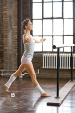 Want a Dancer's Body? Head to the Barre.  Get lean and sculpted—and drop up to 3 1/2 pounds a week!  25-day Ballet Boot Camp Challenge....Reminds me of ballet class!