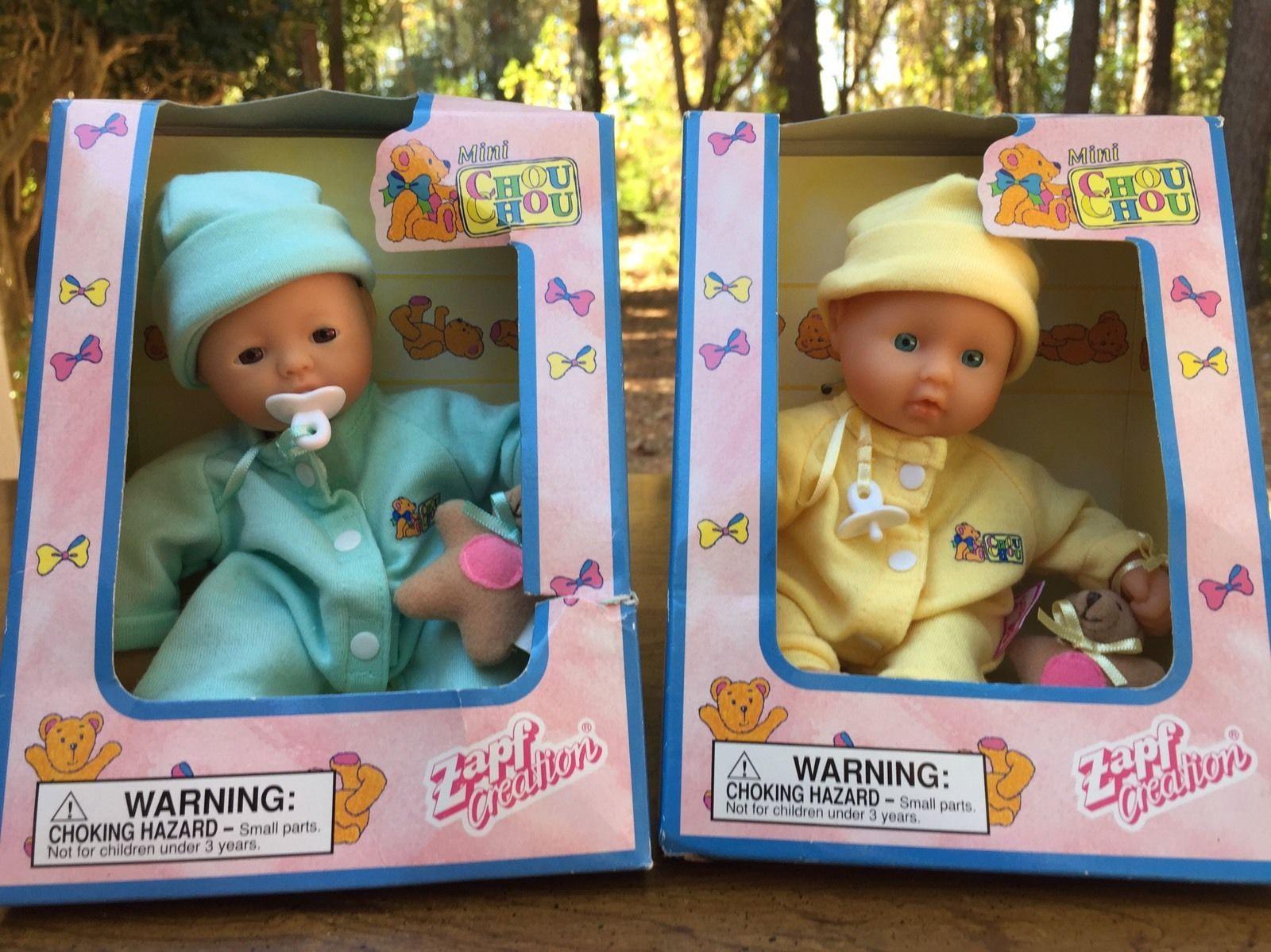 Zapf Creations Lot 2 Mini Chou Chou Baby Dolls New In
