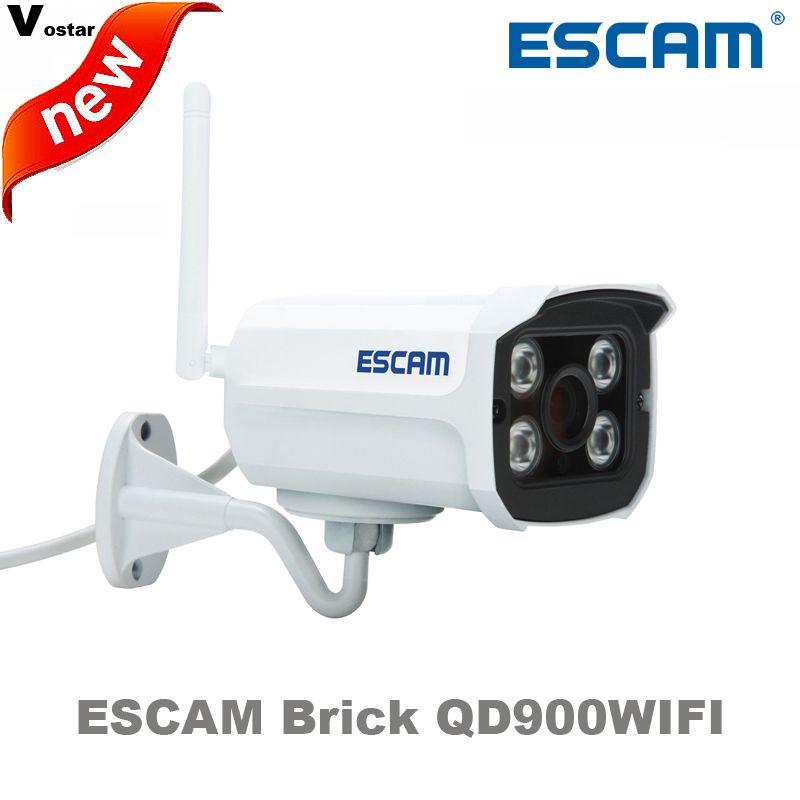 ESCAM Brick QD900WIFI 2 MP full HD Network  IR-Bullet Camera Day/Night IP66 onvif 2.2 1080p 3.6mm fixed Lens wireless ip camera #Affiliate