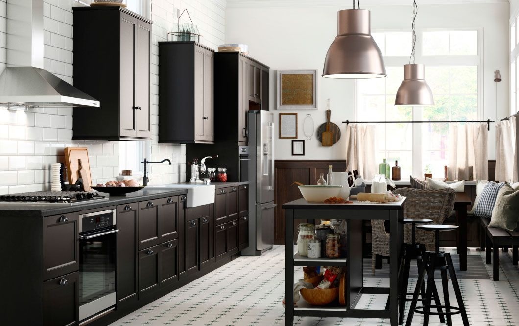 Cuisine Ikéa Laxarby Home Pinterest Brown Drawers Drawers - Cuisine laxarby