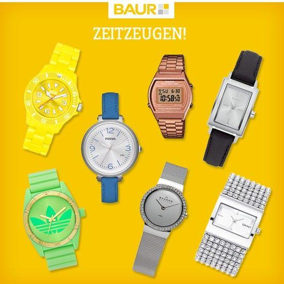 Tick, tack, tick, tack: Ich Uhren in allen Formen, Farben und Größen. Welchen Stil bevorzugt ihr?  Uhr silber: www.baur.net/2635877 Uhr schwarz: www.baur.net/20604179 Uhr grün adidas: www.baur.net/38362584 Uhr Casio rot: www.baur.net/87929271 Uhr Fossil blau: www.baur.net/85456089 Uhr DKNY: www.baur.net/42263291 Uhr gelb: www.baur.net/62647578