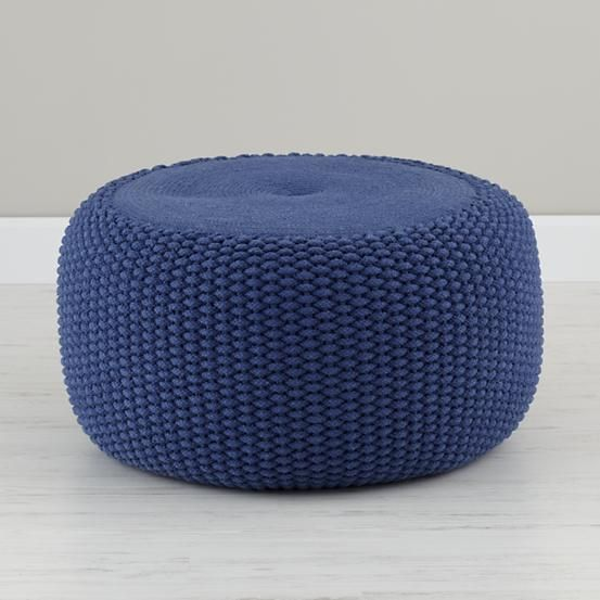 Blue Braided Pouf Poufs Reading Nooks And Playrooms Magnificent Nook Pouf