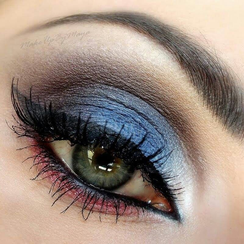 Allez les bleus make up hiha make up pinterest - Make up yeux bleu ...