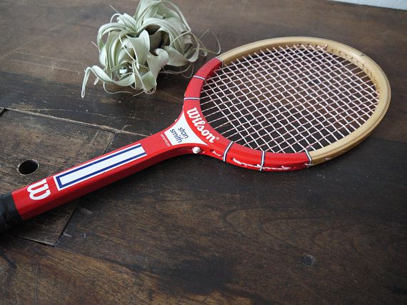 new style 2ef37 e71a1 Vintage Wilson Stan Smith American Wood Tennis Racket Red ...